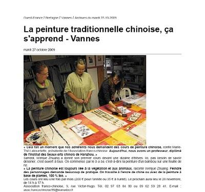 6-PRESSE-CAROUSEL IMAGE 3 Ouest france vannes le 27-10-2009